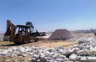 إزالة 10 حالات تعد على أراض زراعية بقرية بيت علام فى سوهاج