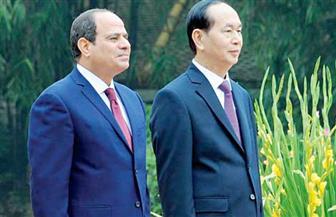 بدء مباحثات القمة بين الرئيس السيسي ونظيره الفيتنامي بقصر الاتحادية