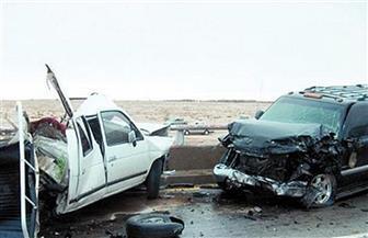 إصابة 3 مجندين وأمين شرطة في حادث تصادم سيارتين برأس سدر