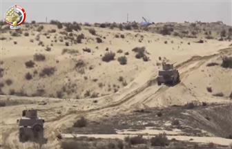القوات المسلحة: القضاء على 20 تكفيريا وتدمير عشرات الأوكار والمخابئ   فيديو
