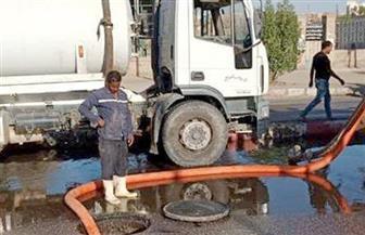 """""""مياه أسون"""": تم حل مشكلة طفح المياه بطريق السادات"""