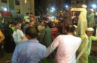 المئات يحتفلون بالليلة الختامية لمولد الشيخ حسانين في المنصورة  صور