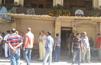 غلق 6 مقاه مخالفة بشارع العيسوي شرق الإسكندرية   صور