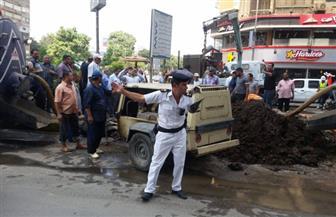 محافظ الجيزة يتفقد أعمال إصلاح مأسورة مياه بشارع البطل أحمد عبدالعزيز