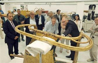 وزير الخارجية الإيطالي يزور المتحف الكبير ومنطقة أهرامات الجيزة | صور