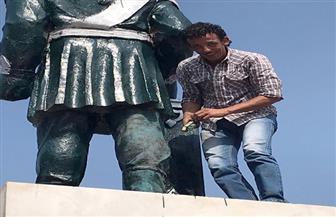 لجنة الثقافة تبدأ أعمالها لإعادة رونق تمثال الخديوي بالإسماعيلية | صور