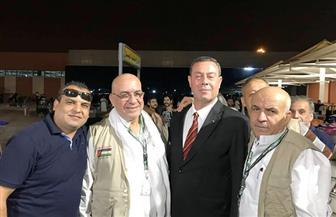 السفير الفلسطيني يستقبل الفوج الثالث من حجاج قطاع غزة بمطار القاهرة   صور