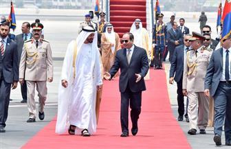 الرئيس السيسي يستقبل ولي عهد أبو ظبي.. ومراسم استقبال رسمية