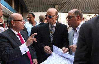 محافظ القاهرة يتفقد موقع هبوط أرضي بشارع الألفي بالأزبكية | صور