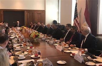 شكري يلتقي أعضاء غرفة التجارة الأمريكية.. ويؤكد: مصر تستهدف أن تكون مركزا إقليميا للطاقة| صور