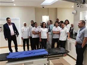أصحاب برونزية العالم لكرة القدم النسائية الموحدة في زيارة لمستشفي بهية