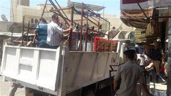 مواجهات بين الأمن والباعة الجائلين خلال حملة لإزالة الإشغالات بالعياط في الجيزة