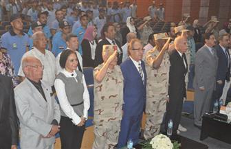 ندوة تثقيفية بالتعاون بين وزارتي الدفاع والتعليم العالي بإحدى الجامعات الخاصة   صور