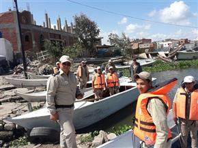 ضبط قوارب الصيد المخالفة وإزالة التحاويط ببحيرة البرلس| صور