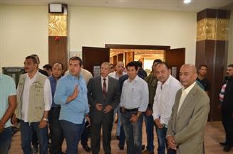 وزير الشباب ومحافظ الإسماعيلية يتفقدان منشآت مقر النادي الإسماعيلي الاجتماعي الجديد