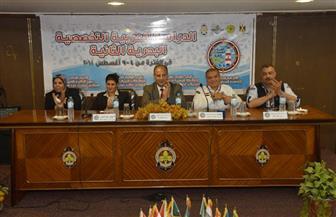 محافظ الإسكندرية يشهد ختام دراسة الأنشطة العربية البحرية| صور