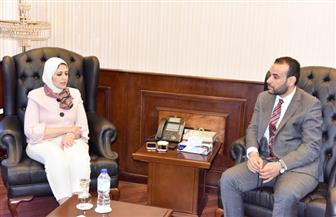 وزيرة الصحة خلال استقبالها نظيرها الليبي: تقديم كافة سبل الدعم للمرضى والأطباء الليبيين