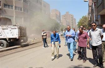 محافظ الجيزة يقود حملة لنظافة شارع الأقصر بإمبابة | صور