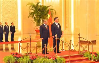 """شي بينج لـ""""الرئيس السيسي"""": إنجازاتكم على الصعيدين الأمني والاقتصادي شجعت الشركات الصينية للاستثمار في مصر"""