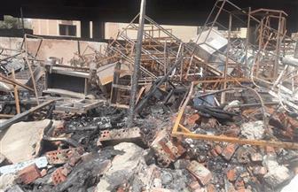 محافظ الجيزة يتفقد مخزن الهرم أسفل الدائري بعد السيطرة على الحريق | صور