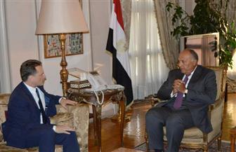 """شكري يؤكد الدعم المصري لـ""""الأونروا"""" خلال لقائه المفوض العام   صور"""