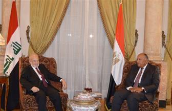 وزير الخارجية يؤكد دعم مصر الكامل لاستقرار العراق وسلامته | صور