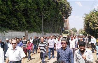 أهالي قرية ميت أبو الكوم يشيعون جنازة شقيقة السادات   صور