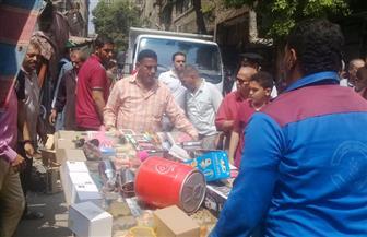 تحرير 99 محضر إشغال و35 إدارة دون ترخيص خلال حملات بشوارع القاهرة   صور