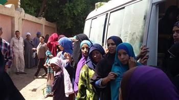 """""""صحة المنيا"""" تنظم قافلة طبية بقرية الشيخ شبيكة بملوي"""