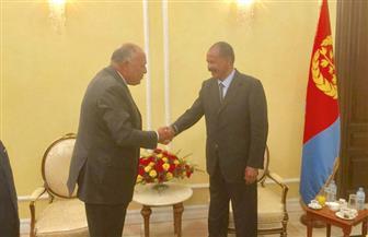 وزير الخارجية يلتقى رئيس إريتريا لبحث التعاون والتنسيق بشأن القرن الإفريقي