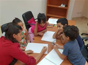 ورش رسم ودورات تدريبية للأطفال في فعاليات المركزالثقافي بطنطا | صور
