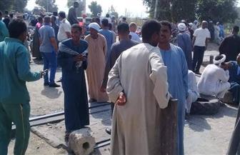 فض تجمع أهالي قرية الضما بعد قيام الإنقاذ النهري بالبحث عن غريق بترعة كاسل | صور