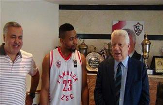 مرتضى منصور يلتقي بلاعب السلة الأمريكي تيريل ستوجلين  صور