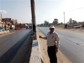 رئيس مدينة المحلة يوجه بمراجعة تأمين أسلاك أعمدة الإنارة |صور