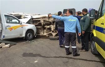 النيابة تحقق في إصابة 7 عمال بحادث مروري على طريق دهشور