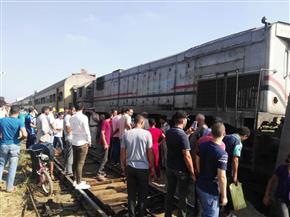 تفاصيل خروج قطار ( طنطا- منوف) عن مساره | صور