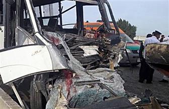 إصابة 20 عاملا في حادث تصادم بطريق (السويس- السخنة)
