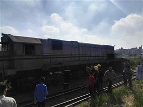 تشكيل لجنة فنية لكشف أسباب سقوط عجلة البوجى الأمامى لجرار قطار (طنطا - منوف)