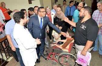 رئيس جامعة المنصورة يتفقد تجهيزات الوحدات الطبية الجديدة بمستشفى الأطفال|صور
