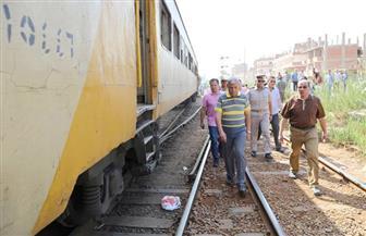 السكة الحديد تكشف سبب خروج قطار شبين الكوم عن القضبان