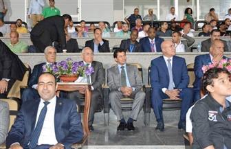 وزير الرياضة يشهد مباراة المصري واتحاد العاصمة الجزائري باستاد بورسعيد |صور