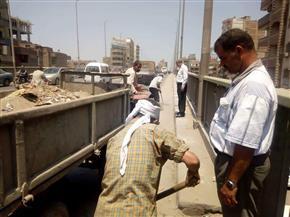 """إزالة 5 حالات تعدٍ و20 طنا من القمامة في """"أبي حماد"""""""