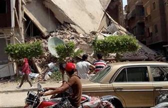 انهيار منزل من 3 طوابق بمدينة طوخ بالقليوبية دون خسائر بشرية  صور