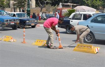 محافظ الغربية يوجه بإزالة الحاجز المروري الموجود أمام الديوان العام | صور