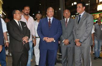 محافظ القاهرة يتفقد شارع عباس العقاد في مدينة نصر