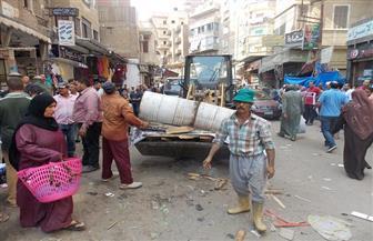 حملة مكبرة لإزالة الإشغالات والباعة الجائلين بشوارع دسوق | صور
