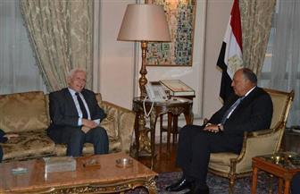 بدء لقاء وزير الخارجية ورئيس وفد فتح التفاوضي في عملية المصالحة الوطنية | صور