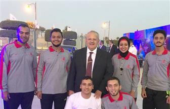"""""""الخشت"""" يلتقى طلاب جامعة القاهرة المشاركين في أسبوع شباب المدن بالسويس   صور"""