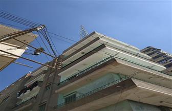 إيقاف أعمال برج تقوية محمول بعمارة سكنية في كفرالزيات| صور