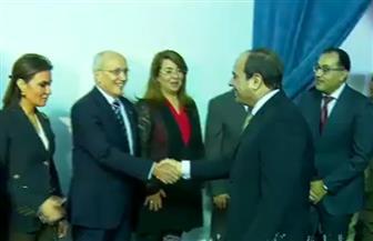 الرئيس السيسي يصل مقر المستشفى العسكري بالمنوفية تمهيدا لافتتاحه